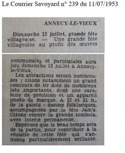 1953 Courrier Savoyard
